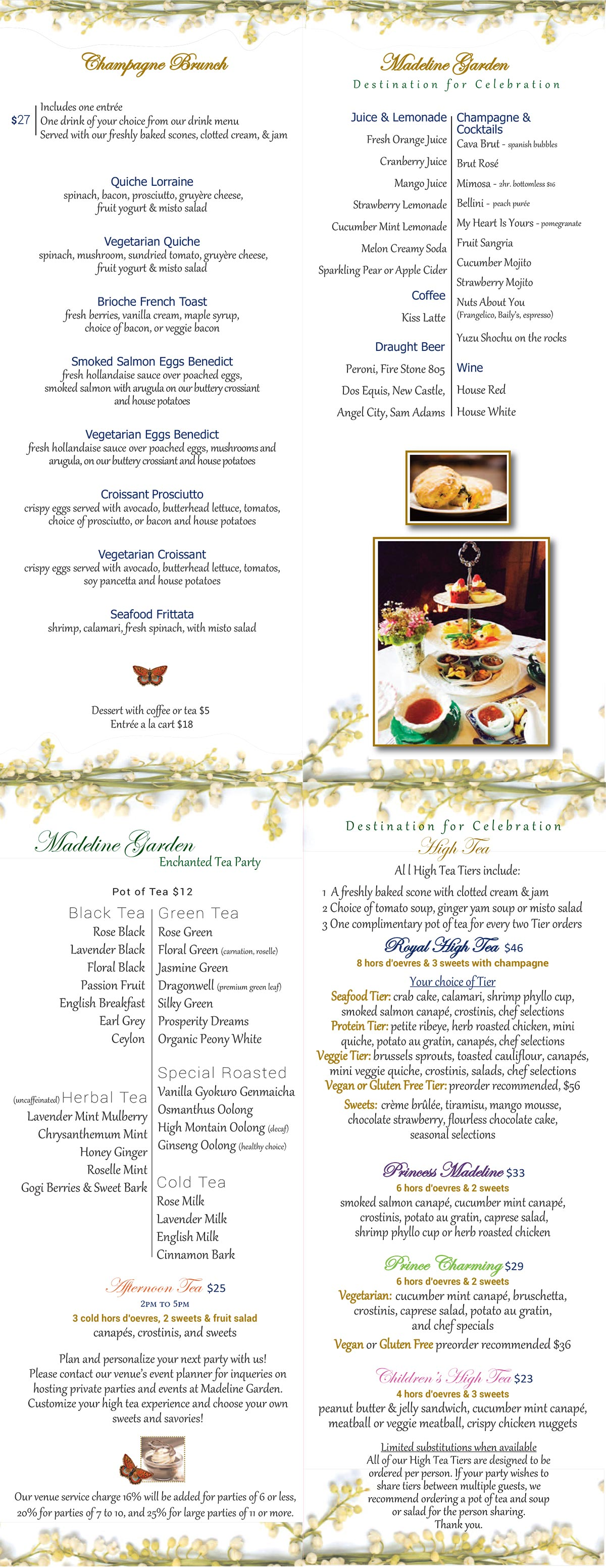 high tea menu more - Maple Garden Menu